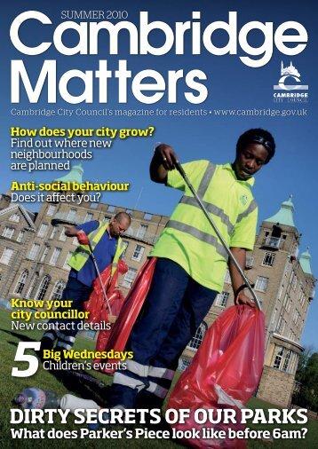 Summer 2010 [PDF, 4.2MB] - Cambridge City Council