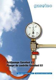 Prüfpumpe Gasotest G1 Pompe de contrôle Gazotest G1 - Gasotec