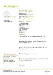 Birnen Nachspeise - Rezeptwiese