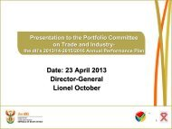 the dti 2013/14-2015/16 Annual Performance Plan - Department of ...