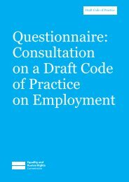 Questionnaire: Consultation on a Draft Code of Practice ... - Cloisters