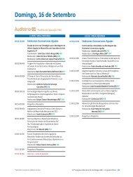 Programação Científica - 16 de setembro 2012 - 66 Congresso ...
