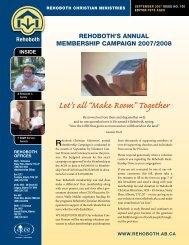 """Let's all """"Make Room"""" Together - Rehoboth Christian Ministries"""