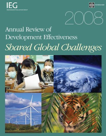 Annual Review of Development Effectiveness 2008 - World Bank ...