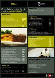 Download Dinner & Lounge Menu PDF - The George Hotel
