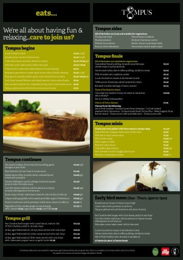 Download Dinner & Lounge Menu PDF - The George Hotel