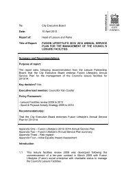 Fusion Lifestyle Annual Service Plan 2013/14 PDF 123 KB
