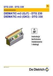 Instrukcja techniczna Diematic m-3 dla DTG-230, 330 S ... - De Dietrich