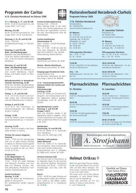 Programm im Februar 2008 - Gewerbeverein Herzebrock-Clarholz
