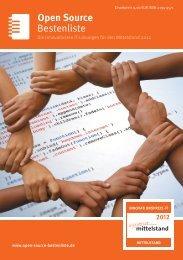 Bestenliste Open Source - IT-Bestenliste
