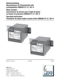Betriebsanleitung Messumformer für Phasenwinkel ... - Mbs-ag.com