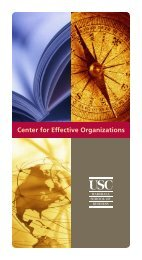2009 information folio and guide to CEO - Center for Effective ...