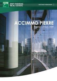 Rapport annuel - Accimmo Pierre - BNP Paribas REIM