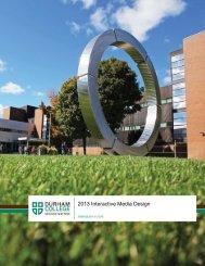 Multimedia Design Program Guide - Durham College