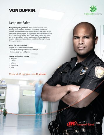 Keep me Safer. - Ingersoll Rand Security Technologies