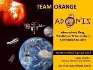 Presentation - Summer School Alpbach 2013