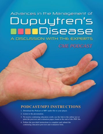 PDF: Advances in the Management of Dupuytren's ... - CMEcorner.com