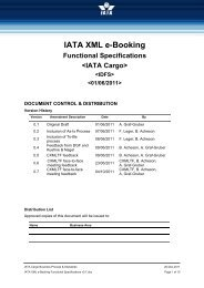 IATA XML e-Booking Functional Specifications