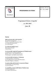 PROGRAMMA DI STORIA - Liceo Artistico Bruno Munari