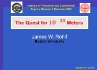 James W. Rohlf - Boston University Physics Department.