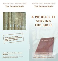 The Piscator Bible - Sepher-Verlag Herborn