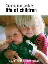 Chemicals In The Daily Life Of Children - Kemikalieinspektionen