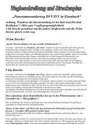 Streckenbeschreibung - Wanderfreunde Titisee-Neustadt e.V.
