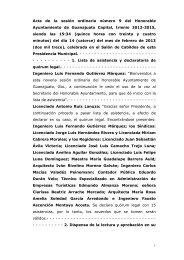 Acta de la sesión ordinaria número 9 del Honorable ... - Guanajuato