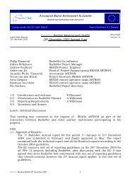SKADS Administrative Workshop - RadioNet