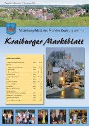 Ausgabe 6 - Dezember '10 / Januar ' - Markt Kraiburg am Inn