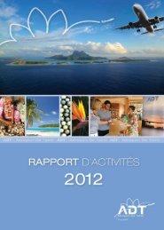 Rapport d'activités 2012 - Aéroport de Tahiti gestionnaire des ...