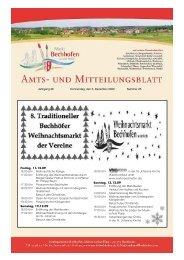 Amts- und Mitteilungsblatt der Gemeinde Finsing - Markt Bechhofen