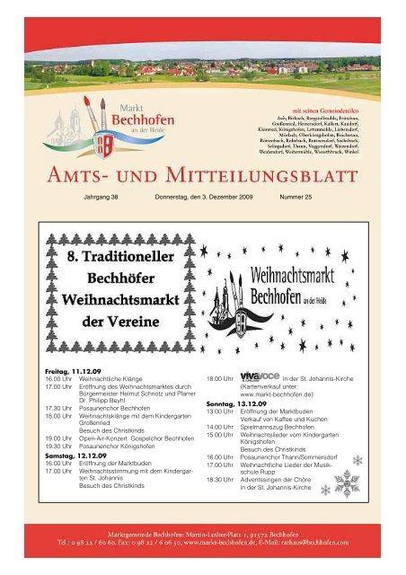 Amts Und Mitteilungsblatt Der Gemeinde Finsing Markt Bechhofen