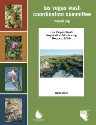 Vegetation Monitoring Report, 2009 - Las Vegas Wash Coordination ...
