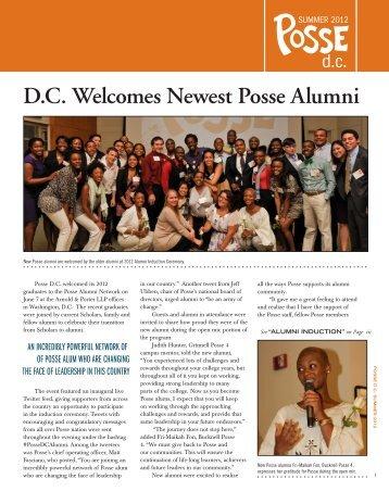 Posse D.C., Summer 2012[pdf] - The Posse Foundation