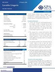 Lovable Lingerie - SPA Capital Services Ltd.
