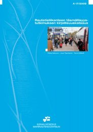 Rautatieliikenteen täsmällisyystutkimuksen ... - Liikennevirasto