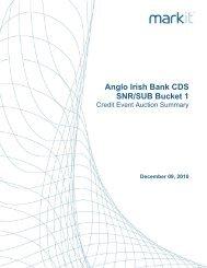 Anglo Irish Bank CDS SNR/SUB Bucket 1 - Markit.com