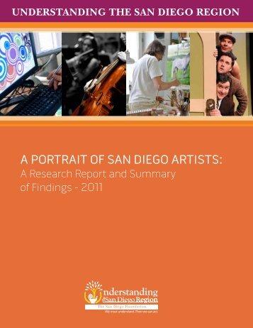 A PortrAit of SAn Diego ArtiStS: - The San Diego Foundation