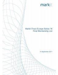 Markit iTraxx Europe Series 16 Final Membership List - Markit.com
