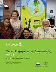 The Tenant Engagement on Sustainability Guide for ... - BC Housing