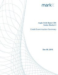 Anglo Irish Bank CDS Senior Bucket 2 Credit Event ... - Markit.com