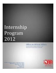 Internship Program 2012 - News Room, DC