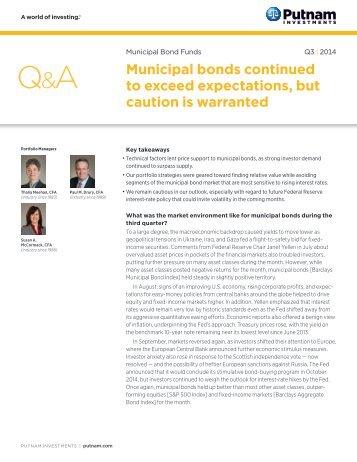 Quarterly Municipal Bond Market Outlook - Putnam Investments