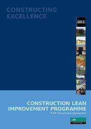CLIP: Case Studies Vol 1. Profit from Process Improvement - BRE