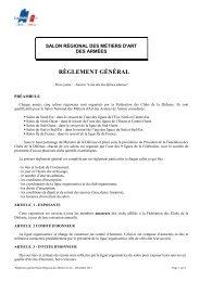 règlement général - La fédération des Clubs de la Défense