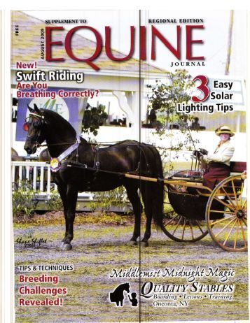 Equine Journal - August, 2009 - Phelps Media Group