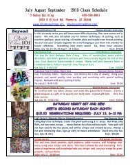 July August September 2013 Class Schedule - 3 Dudes Quilting