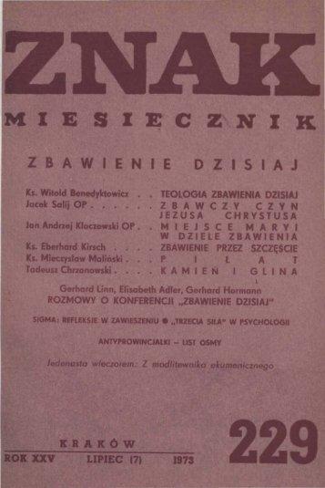 Nr 229, lipiec 1973 - Znak