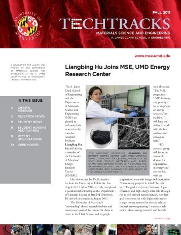 Fall 2011 - Materials Science and Engineering - University of Maryland